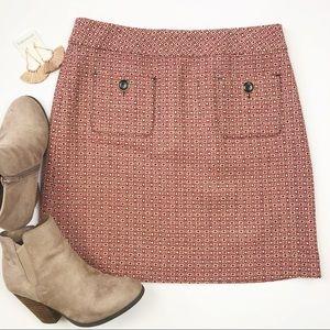 LOFT 60's retro inspired wool blend skirt skirt